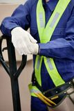 Midsection Of Young Foreman In Protective Clothing Royalty Free Stock Image