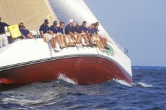 Midshipmen από το U S Δεξιότητες ναυσιπλοΐας πρακτικής Ναυτικής Ακαδημίας στο κόλπο Chesapeake, κοντά σε Annapolis, Μέρυλαντ Στοκ Εικόνα