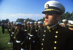 Midshipmen, Ηνωμένη Ναυτική Ακαδημία, Annapolis, Μέρυλαντ Στοκ Εικόνες