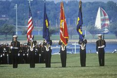 Midshipmen Color Guard Stock Image