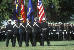 Midshipmen Color Guard Stock Photos