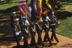 Midshipmen Color Guard Royalty Free Stock Photos