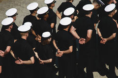 Midshipmen in formation. US Naval Academy, Annapolis, MD Royalty Free Stock Photos