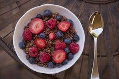 Midshot delle bacche del cereale Fotografia Stock Libera da Diritti
