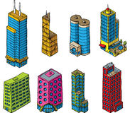 Midsize Towers Stock Photo