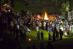 Midsumer或约翰的前夕庆祝在拉脱维亚 库存照片