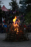 Midsummer Bonfire Royalty Free Stock Photography