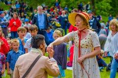 Midsummer celebration in Gothemburg, Sweden Royalty Free Stock Image