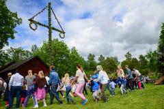 Midsummer celebration Stock Images