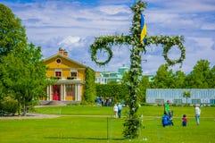 Midsummer cross in Tradgardsforeningen, the Garden Stock Photography
