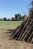 for a midsummer festival bonfire on a very sunny day in august i Royalty Free Stock Image