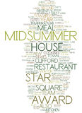 Midsummer House Awards Text Background  Word Cloud Concept Royalty Free Stock Image