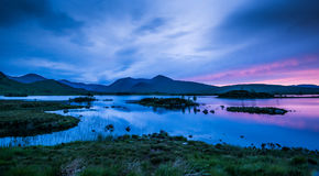 Midsummer at Lochan na h-achlaise Stock Image