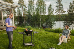 midsummer in Sweden Royalty Free Stock Photography