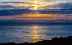 Midsummernatt över havet Royaltyfria Foton