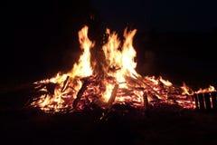 Midsummernight fire Stock Photos