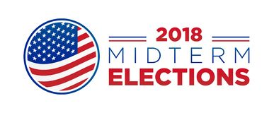 2018 midterm congressional elections royalty free illustration