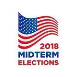 2018 midterm congressional elections vector. With flag illustration vector illustration