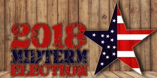 Free Midterm Election 6th November Text On Wooden Background Royalty Free Stock Image - 130141806