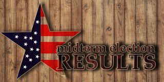 Free Midterm Election Voting Results, Text On Wooden Background Royalty Free Stock Images - 130142069