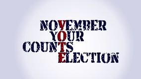 Midterm election your vote counts text on white background royalty free illustration