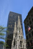 Midtown. St. Patrick's Cathedral in Midtown Manhattan Stock Photos