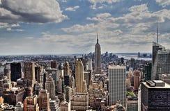 Midtown-Antennenpanorama New York City Manhattan Stockbild