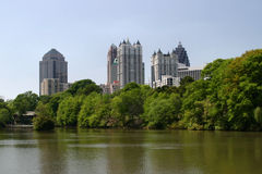 Midtown Atlanta Royalty Free Stock Photography