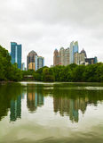 Midtown Atlanta on a cloudy day Royalty Free Stock Images