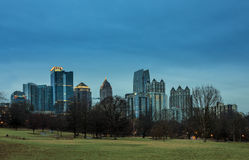 Midtown Atlanta before dawn Stock Photo