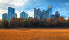 Midtown Atlanta et parc de Piémont, Etats-Unis Photo libre de droits