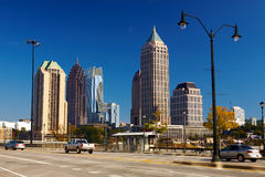 Midtown. Atlanta, GA. Royalty Free Stock Images