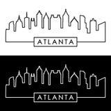 Midtown Atlanta style linéaire illustration libre de droits