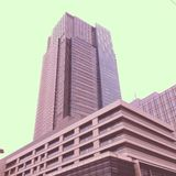 Midtown. Building in Roppongi Royalty Free Stock Photo