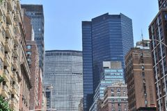 Midtown buildings in New York City Royalty Free Stock Image