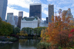 Midtown from Central Park in an Autumn morning Stock Images