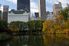 Midtown from Central Park in an Autumn morning Royalty Free Stock Photos