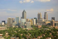 Midtown d'horizon d'Atlanta, Etats-Unis Photos stock