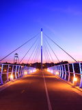 Midtown Greenway bridge. In Minneapolis at night Royalty Free Stock Photos