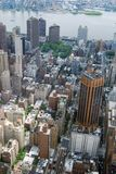 Midtown Manhattan Aerial View Royalty Free Stock Photos