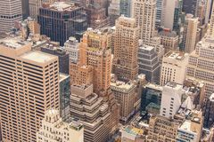 Midtown Manhattan Aerial View Royalty Free Stock Image
