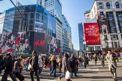 Midtown Manhattan Christmastime Stock Photo