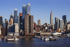 Midtown Manhattan cityscape from Hudson River Stock Image