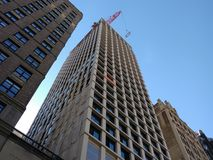 Midtown Manhattan, Crane Construction, NYC, NY, USA Lizenzfreie Stockfotografie