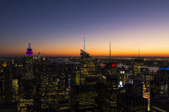 Midtown Manhattan e Empire State Building Fotografie Stock Libere da Diritti