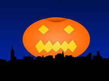 Midtown Manhattan at Halloween Stock Photo