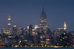 Midtown Manhattan from Jersey II royalty free stock photo