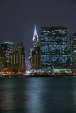 Midtown Manhattan na noite Fotografia de Stock Royalty Free