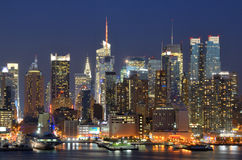 Midtown Manhattan in New York City Royalty Free Stock Photos