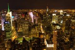Midtown manhattan at night Royalty Free Stock Photo
